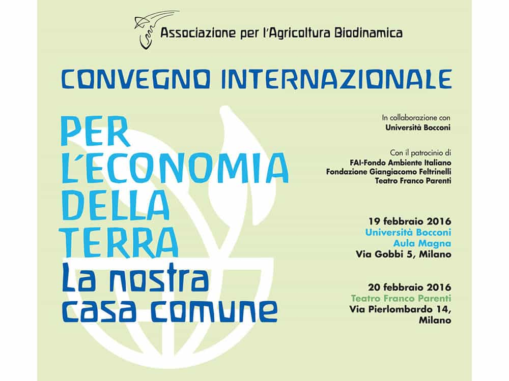 Association for biodynamic agriculture in collaboration with the University of economics Bocconi in Milan