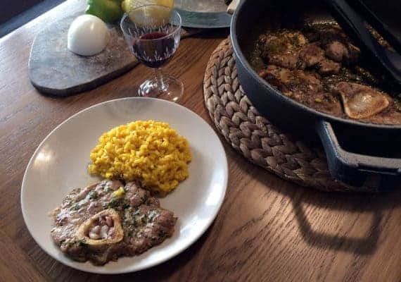Risotto allo Zafferano with Ossobuco