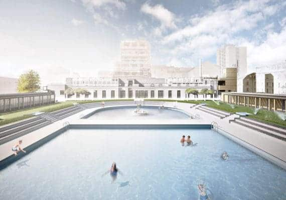 Caimi Pool in Milan : The rediscovered Deco Pool