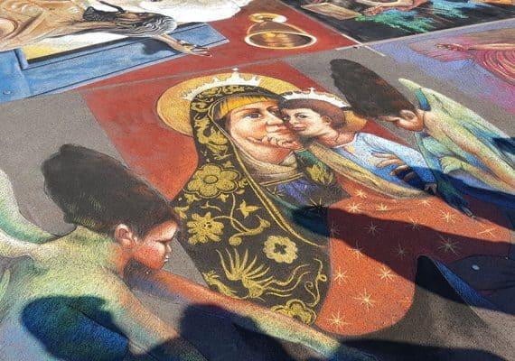 Italian Street Painting : The Lombardy Mandala